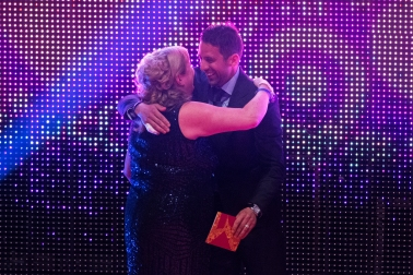 FOR SUNDAY MAIL Young hero VIP presenter: Neil Alexander presents award to Alison Barr. Young Scot Awards 2015, Usher Hall, Edinburgh.. FEE PAYABLE FOR ALL INTERNET USE All money payable:- Mark Anderson Flat 2/2 Glasgow G41 3HG